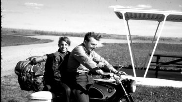 """Robert Pirsig (above with his son, Chris) wrote in Zen and the Art of Motorcycle Maintenance of the virtues of showing """"old-fashioned gumption"""" towards technology."""