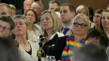 Labor senator Katy Gallagher at the Press Club on Wednesday.