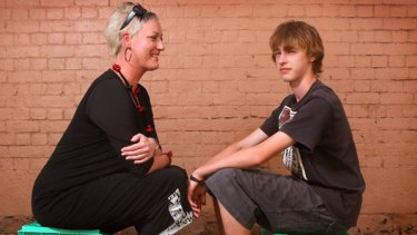 Tracy Bartram with her son Max, 15, whose passion for drumming has helped him manage his Tourette Syndrome.
