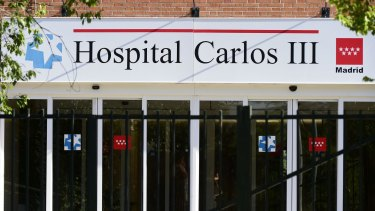 Infection scene: Madrid's Hospital Carlos III where the nurse infected with Ebola worked.