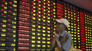 At a brokerage house in Nanjing: The Chinese sharemarket has gone from boost to bust.