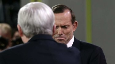 Back-tracked disgracefully: Coalition leader Tony Abbott.