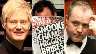 Scandal ...Neil Robertson's appearance in the snooker world championship final has been overshadowed by an alleged scandal involving world number one John Higgins, right.