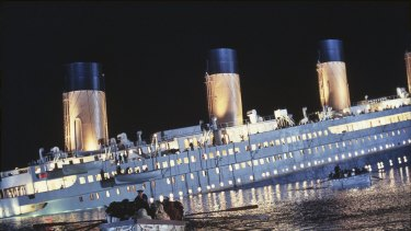 A 3D replica of the luxury liner, the Titanic, which sank on its maiden voyage in 1912.