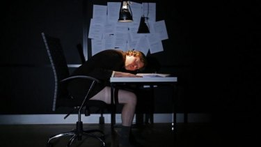 Malaise: Ben Crowley as Bartleby, whose motivations grow more mysterious as the play unfolds.