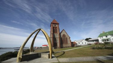 Christ Church Cathedral on Ross Road is shown in Stanley, Falkland Islands, on March 17, 2011. T