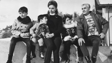St Moritz holiday ... the royal family in 1969, from left, Crown Prince Reza, Prince Alireza, the empress, Princess Farahnaz and the shah.
