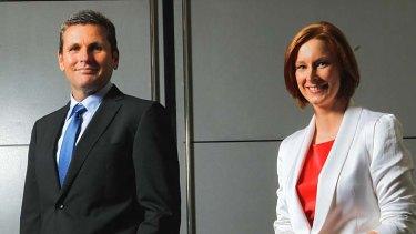 The team ... 7.30 political editor Chris Uhlmann and host Leigh Sales.