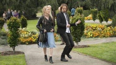 Meryl Streep and Rick Springfield in <i>Ricki and the Flash</i>.