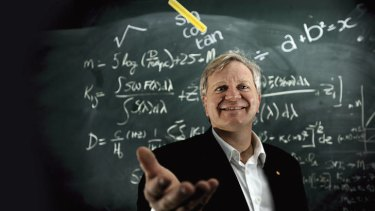Feet on the ground … Schmidt says his research has never defined his happiness.