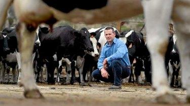 Yarra Valley dairy farmer Tyran Jones.