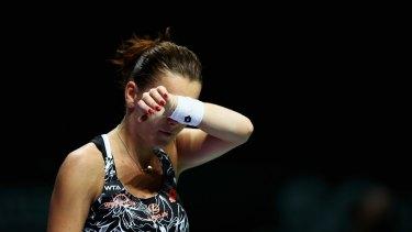 It's all a bit too much for Agnieszka Radwanska.