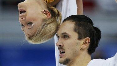 Gold medal: Tatiana Volosozhar and Maxim Trankov.