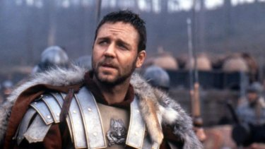 Russ rebuffed ... being overseas while filming <i>Gladiator</i> has been cited as part of the reason Crowe missed out on an Aussie passport. Not applying for one could be another explanation.