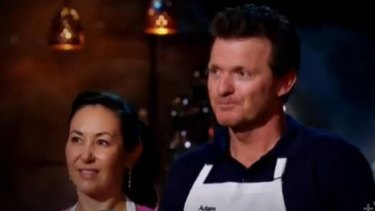 Carol and Adam receive the news that they have been eliminated from My Kitchen Rules.