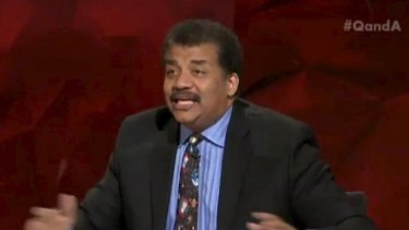 """An animated Neil deGrasse Tyson offers a """"cosmic perspective"""" on the Adam Goodes controversy."""