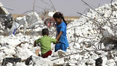 In great danger: Dr Roger Hearn has said that children in Syria risk death from lack of nutrients and starvation.