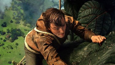 Hit and myth: Jack (Nicholas Hoult) scales the stalk in the effects-heavy fairytale adaption <em>Jack the Giant Slayer</em>.