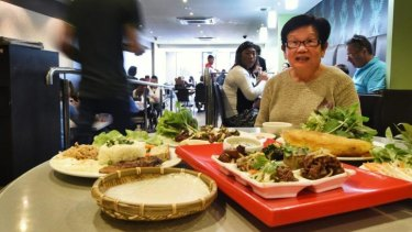 Attracting visitors: Culinary delights at Bau Truong Vietnamese restaurant in Cabramatta.