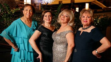 The Sapphire ladies as they are today … Naomi Mayers, from left, Lois Peeler, Laurel Robinson and Beverly Briggs share fond memories of performing together and still love to sing when they can.