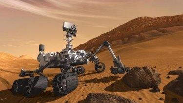 Mars rover Curiosity.