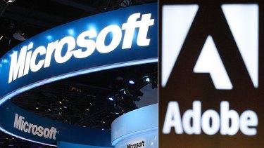 Microsoft and Adobe: Suing Super Radio Network.