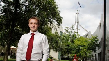 Making a contribution … Wyatt Roy says he is one of ''150 people in this place who want to be prime minister''.