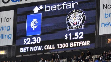 Betfair's contract to show live odds on the scoreboard screen at the MCG and Etihad Stadium expires at the end of the season.