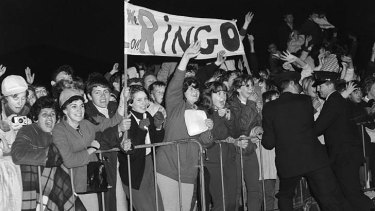 The love you make: Fans wait for Ringo Starr to arrive in Sydney in June 1964.