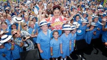 Katy Perry at Loreto Mandeville Hall in Toorak.