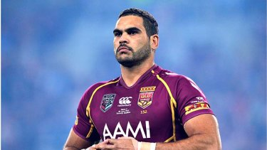 Racial abuse: A troll has targeted Greg Inglis and his wife highly offensive comments to a picture on Instagram.