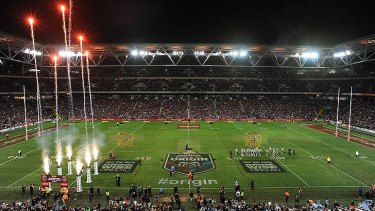 Gold Coast Mayor Tom Tate hopes a revamped Metricon Stadium will host a State of Origin match.