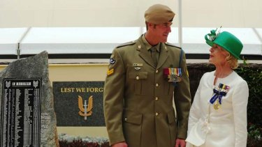Selfless ... Corporal Ben Roberts-Smith with Quentin Bryce.