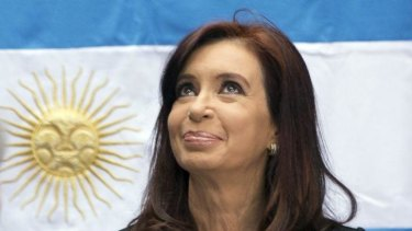 Argentina's President Cristina Kirchner claims there is a NATO nuclear base on the Falkland Islands.