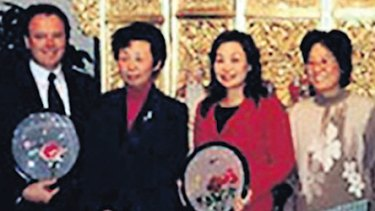 Joel Fitzgibbon, left, and Helen Liu, second from right, at The One Hundred Generals Calligraphy and Art Exhibition.