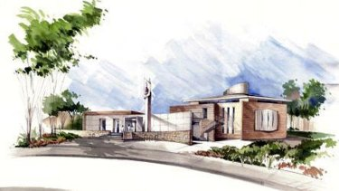 An artist's impression of the mosque proposed for Gungahlin.