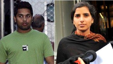 Accused Gursewak Dhillon, left, and his wife, Sim Kaur.