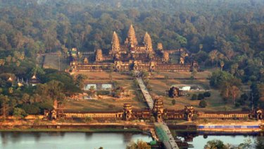 Angkor Wat ... two million tourists visit each year.