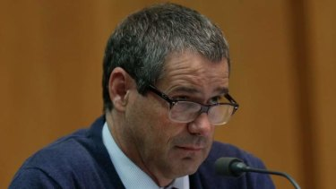 Senator Stephen Conroy on Tuesday. Photo: Andrew Meares