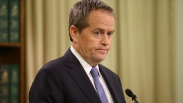 Bill Shorten reveals the sex assault allegations in Melbourne on Thursday.