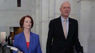 Prime Minister Julia Gillard and Federal Education Minister Peter Garrett.