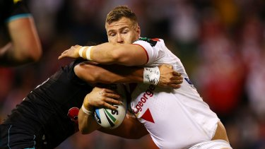 Renewing acquaintances: Former Dragons forward Trent Merrin will line up against his old team for Penrith.