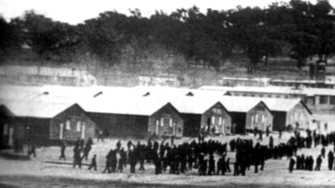 The Cowra prisoner of war camp B compound, July 1, 1944.