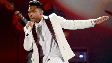 R&B singer Miguel performs at this year's Billboard Music Awards in Las Vegas.