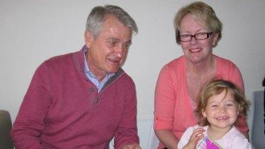 Les Samba, his wife Deidre Samba and granddaughter Hilary.
