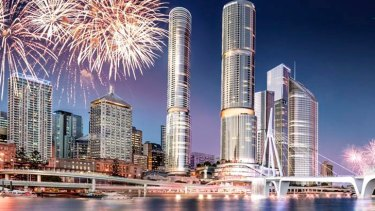 An artist's impressions of Crown's proposals for Brisbane.