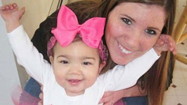 Missing ... Krista Dittmeyer with her daughter.