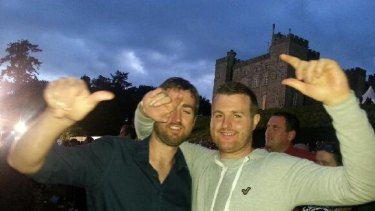 Brothers in arms: Patrick and Barry Lyttle in happier times.