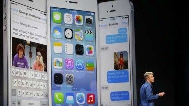New look: Craig Federighi introduces iOS 7.