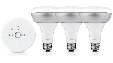 Plugged in: Philips' smart light bulbs.